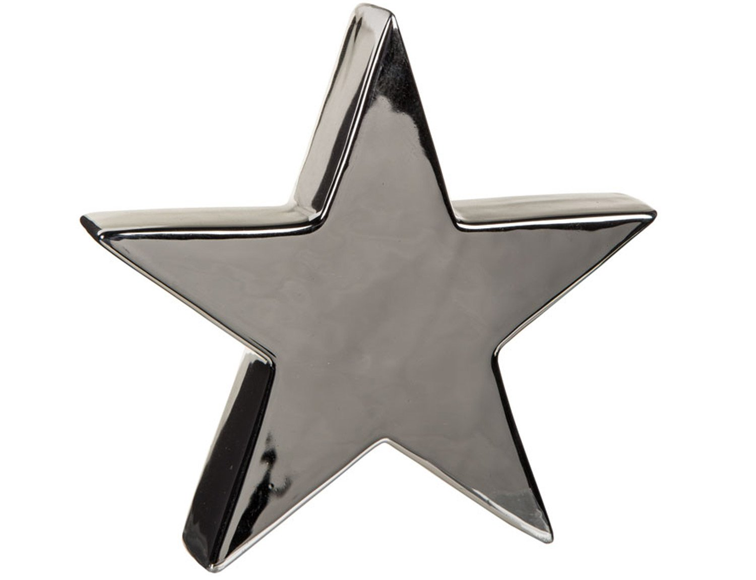 Lovely Chic Contemporary Ceramic Star and Tree Ornaments 2 Sizes And Colours Small Tree, Silver