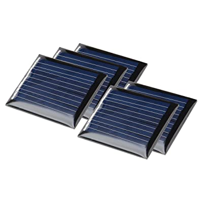 uxcell 5Pcs 2V 60mA Poly Mini Solar Cell Panel Module DIY for Light Toys Charger 30mm x 36mm: Automotive