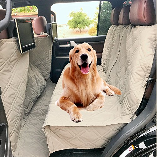 Deluxe Quilted and Padded Dog Car Seat Cover with Non-Slip Back Best for Car Truck and SUV – Make Travel with Your Pet…