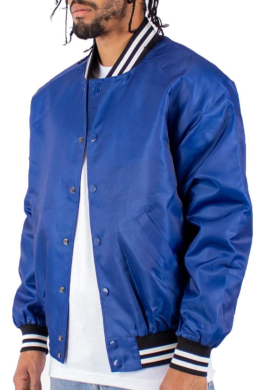 Shaka Wear Mens Padded College Baseball Varsity Bomber Jacket S to 3XL