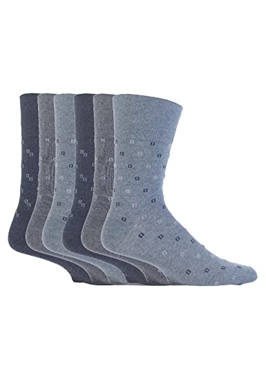 NUEVO: 6 Pack Hombre Suave Grip no elástico calcetines 7 - 12 US: Amazon.es: Ropa y accesorios