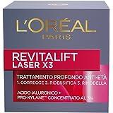 L'Oréal Paris Revitalift Laser X3 Crema Viso Antirughe Anti-Età con Acido Ialuronico e Pro-Xylane, 50 ml