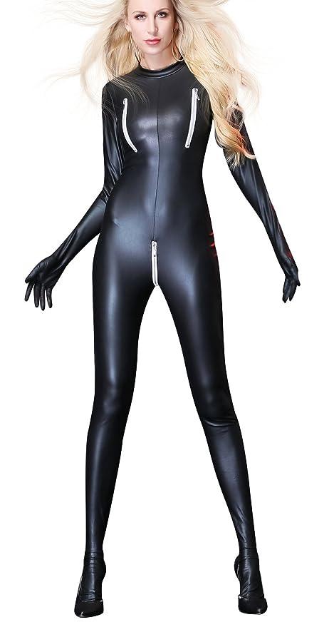 New-Love Lencería Catsuit Catwoman Disfraz Sexy Mujer Mono Cuero ...