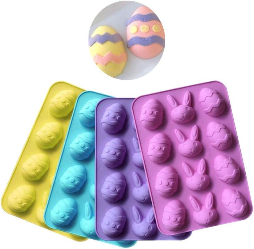 Silicone Easter Egg Mould Baking Cake Crafts Chocolate Fondant Decorating Blue