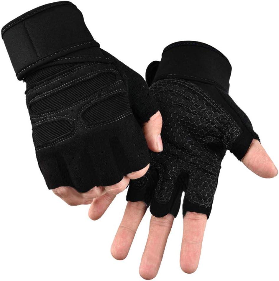 Cycling Gloves Fingerless Half Finger Bike Riding Mitts Sports Wheelchair MTB