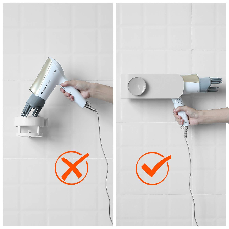 Weiß Termichy Fönhalter ohne Bohren Badezimmer Regal Wandhalterung ...