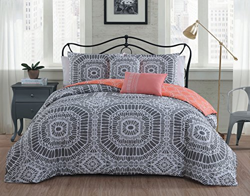 Avondale Manor Petra 5-Piece Duvet Cover Set, Full/Queen, (Petra Sham)