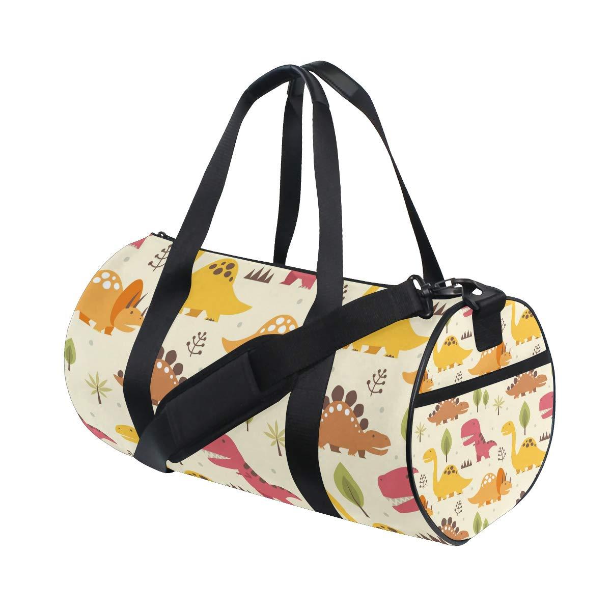 Various Of Cartoon Dinasours Women Sports Gym Totes Bag Multi-Function Nylon Travel Shoulder Bag