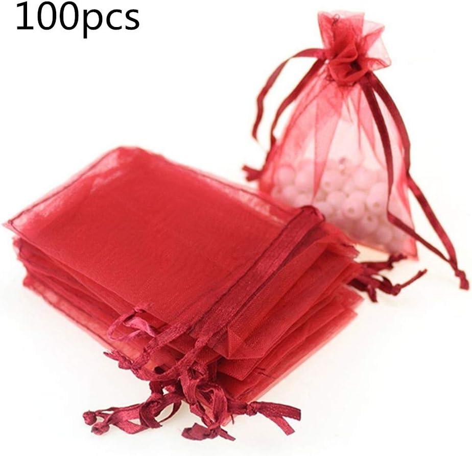 Bestselling Packung mit 100 St/ück Organza Geschenkbeutel 3x4 Zoll Kordelzug Hochzeitsfeier Bevorzugen Geschenk S/ü/ßigkeitstaschen Schmuckbeutel