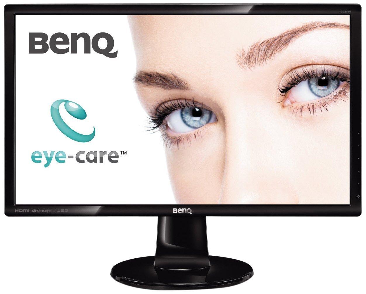 BenQ GW2480, É cran Eye-Care de 23.8 pouces, Affichage FHD 1920 x 1080, IPS, Brightness Intelligence,  Low Blue Light, Flicker-Free, Cadre ultra-fin, HDMI Écran Eye-Care de 23.8 pouces