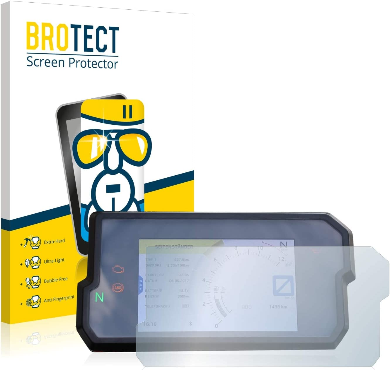 AirGlass brotect Glass Screen Protector compatible with KTM 790 Adventure 2019 9H Glass Protector