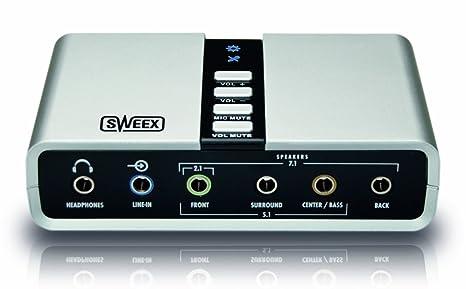 Amazon.com: Sweex 7.1 tarjeta de sonido externa (USB ...