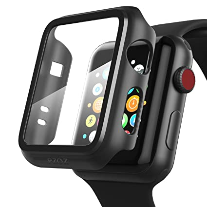 PZOZ Compatible Apple Watch Series 3 / Series 2 Case with Screen Protector 38mm Accessories Slim Guard Thin Bumper Full Coverage Matte Hard Cover ...