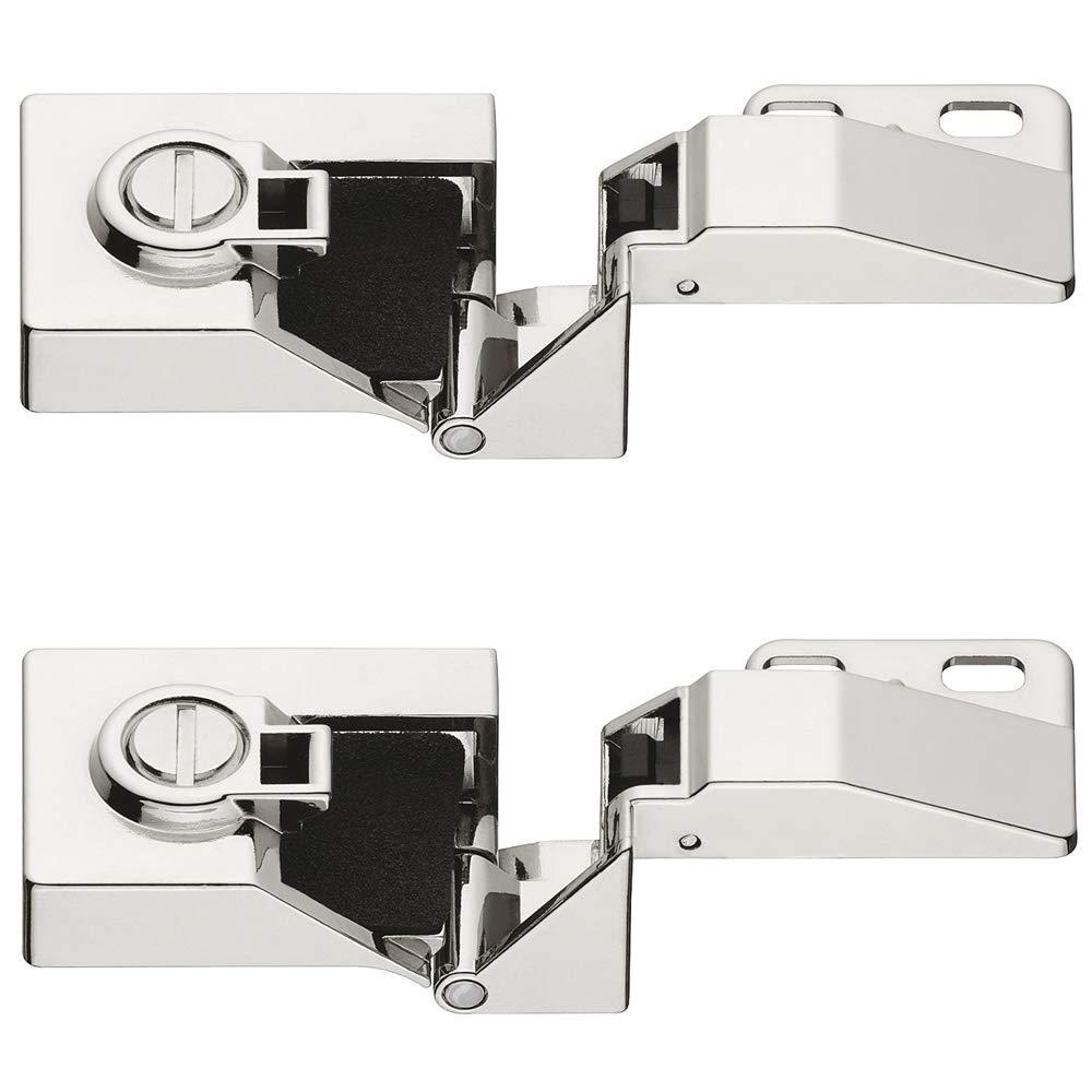 2 pcs GedoTec para puerta de cristal con bisagra de los muebles de bisagra para puerta de Montaje sin orificio de protector de pantalla de cristal | Ángulo de apertura 170° | 2 coloures | Made in Germany GedoTec®