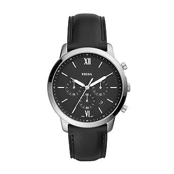 Fossil Mens FS5452 Neutra Chrono Analog Display Analog Quartz Black Watch