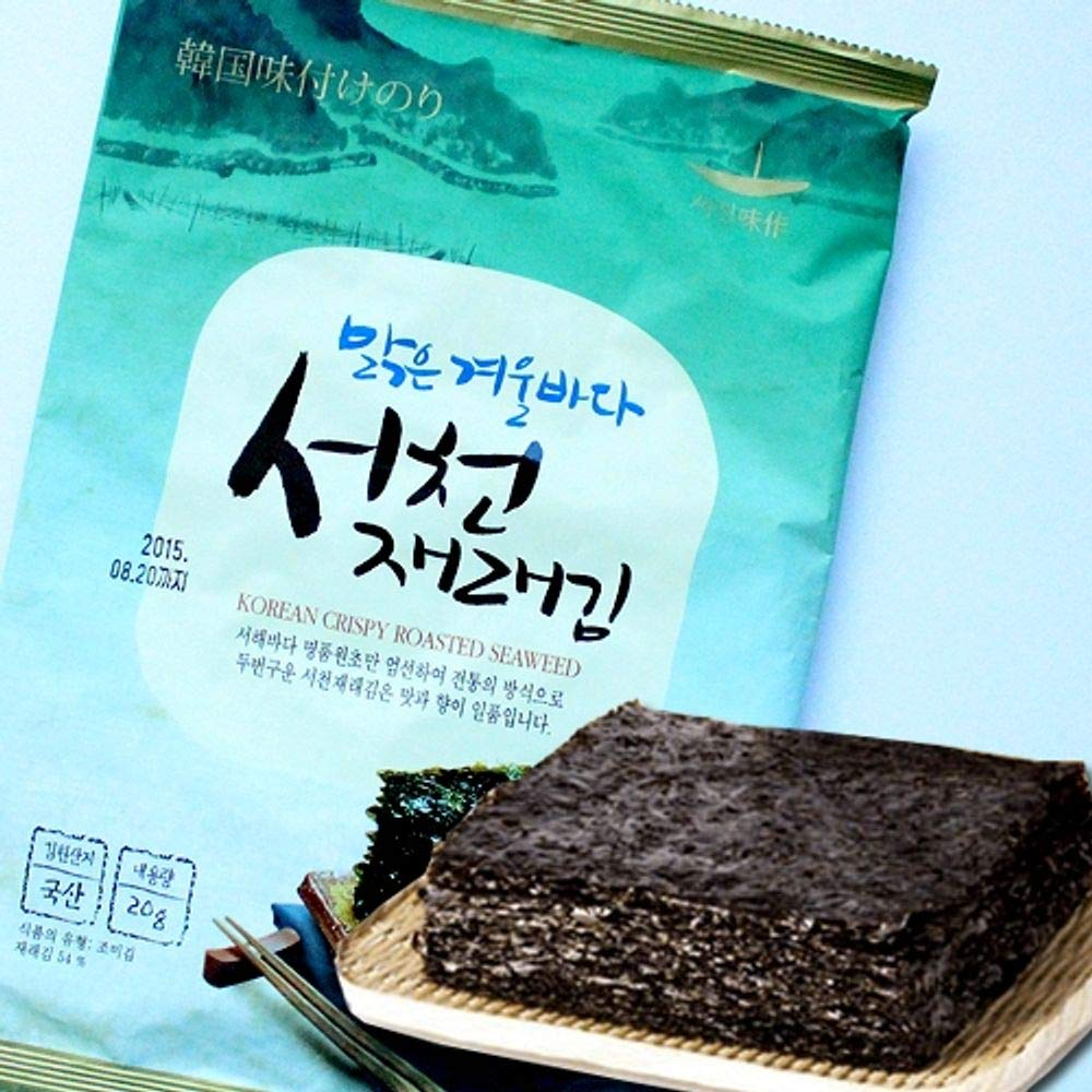 Seocheon Traditional Type Korean Seaweed 20g x 10 packs