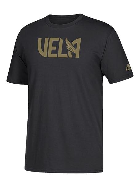 Adidas Carlos Vela LAFC MLS IR a tee Negro Dorado de Manga Corta Camiseta - Negro
