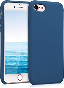 kwmobile TPU Silicone Case Compatible with Apple iPhone 7/8 / SE (2020) - Soft Flexible Rubber Protective Cover - Navy Blue