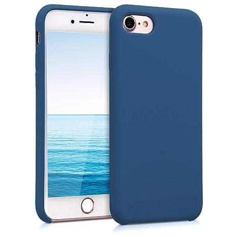kwmobile Funda para Apple iPhone 7 / 8 - Carcasa de TPU para teléfono móvil - Cover trasero en azul marino