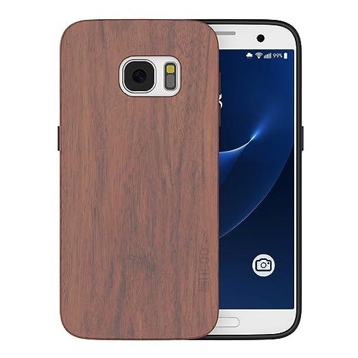 57 opinioni per S7 Cover, Galaxy S7 Custodia, Slicoo Custodia in Natura Legno Bambù con