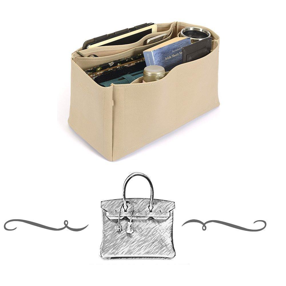 Birkin 40 Deluxe Leather Handbag Organizer, Leather bag insert for Hermes Birkin 40, Express Shipping