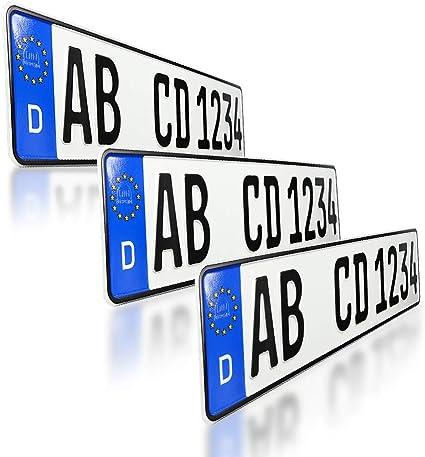 Amazon.es: 3 Matrículas europeas para coche, para todas las marcas ...