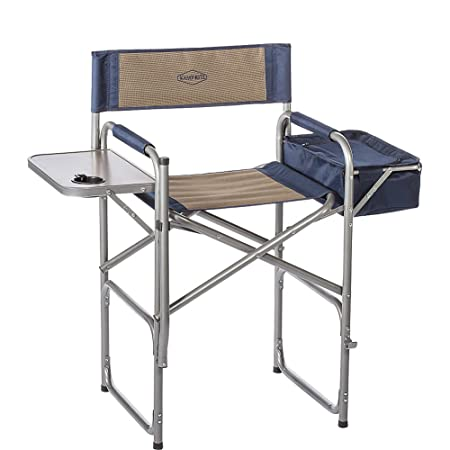 Kamp-Rite High Back Director s Chair with Table Cooler, Tan