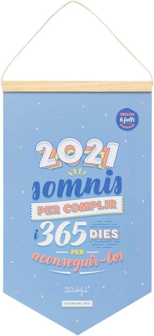 Calendari de paret - 2021 somnis per complir i 365 dies per aconseguir-los