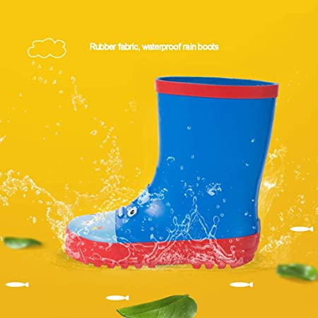 WXYPP Cartoon Stampa Stivali da Pioggia Ragazzi e Ragazze