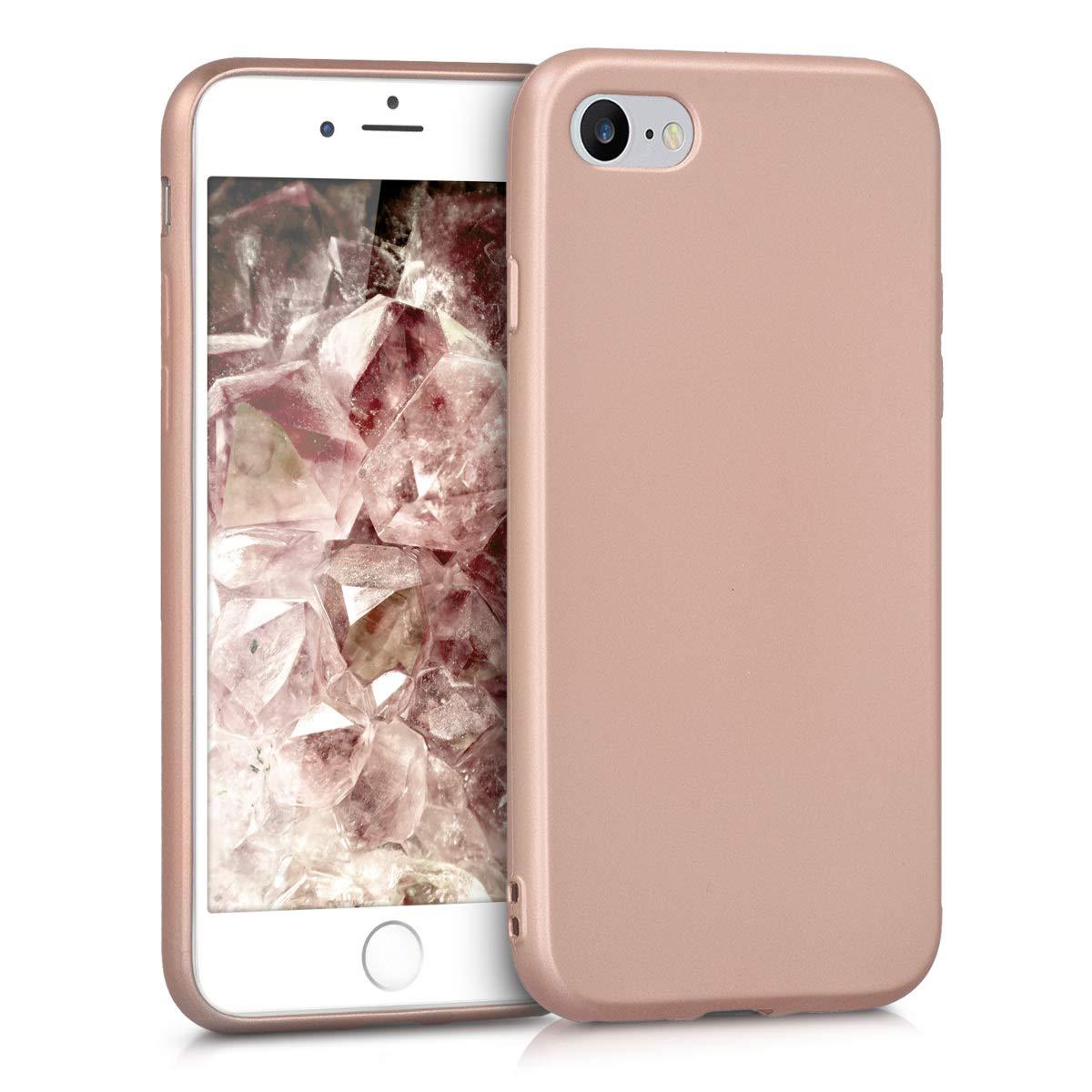 Housse de t/él/éphone en Silicone Or Rose m/étallique Coque pour Apple iPhone 7//8 kwmobile Coque Apple iPhone 7//8