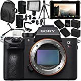 Sony Alpha a7R III Mirrorless Digital Camera with Atomos Ninja Inferno 7 4K HDMI Recording Monitor 15PC Accessory Bundle – Includes Deluxe Backpack + MORE