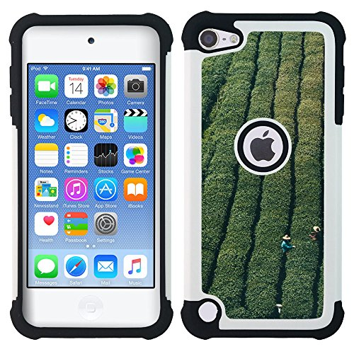 apple-ipod-touch-5-hybrid-heavy-duty-armor-shockproof-silicone-cover-rugged-case-farmer-green-nature