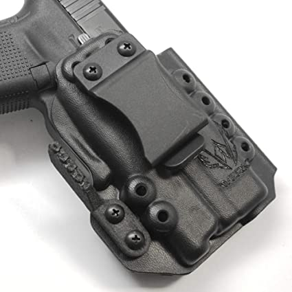 Werkz M6 Modular Holster for Glock 19 / 19x / 23/32 / 45 Gen 3/4/5 with  Surefire XC1-B, Right, Solid Black