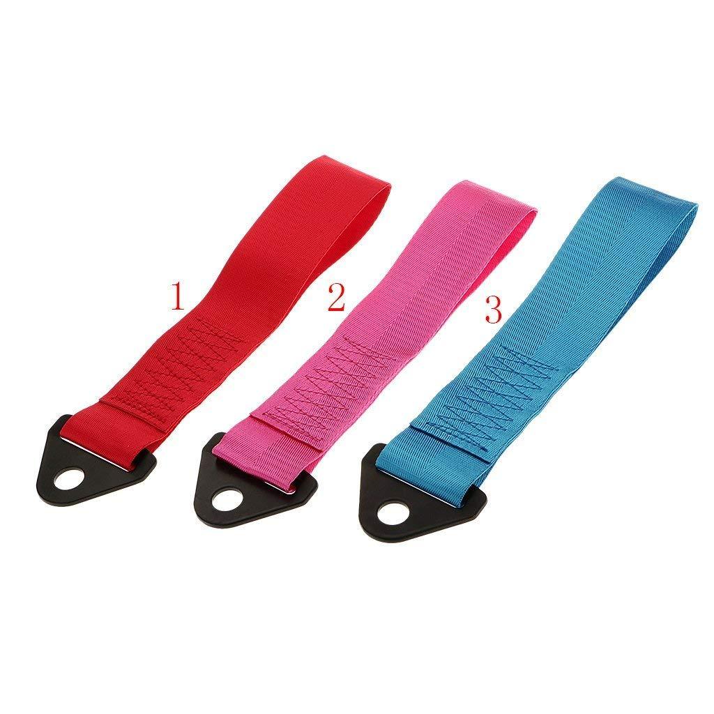 Coche ciclo de cuerda correa de remolque Remolque Remolque 2/Ton Con Gancho Perno pesada rojo