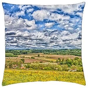 Excelente vista de un Valle hdr–Funda de almohada manta (18