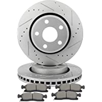 - Two Years Warranty fits 2018 Ford F-150 King Ranch Rear Cross Drilled and Slotted Disc Brake Rotors and Ceramic Brake Pads INROBLE NOTE: Electric Parking Brake