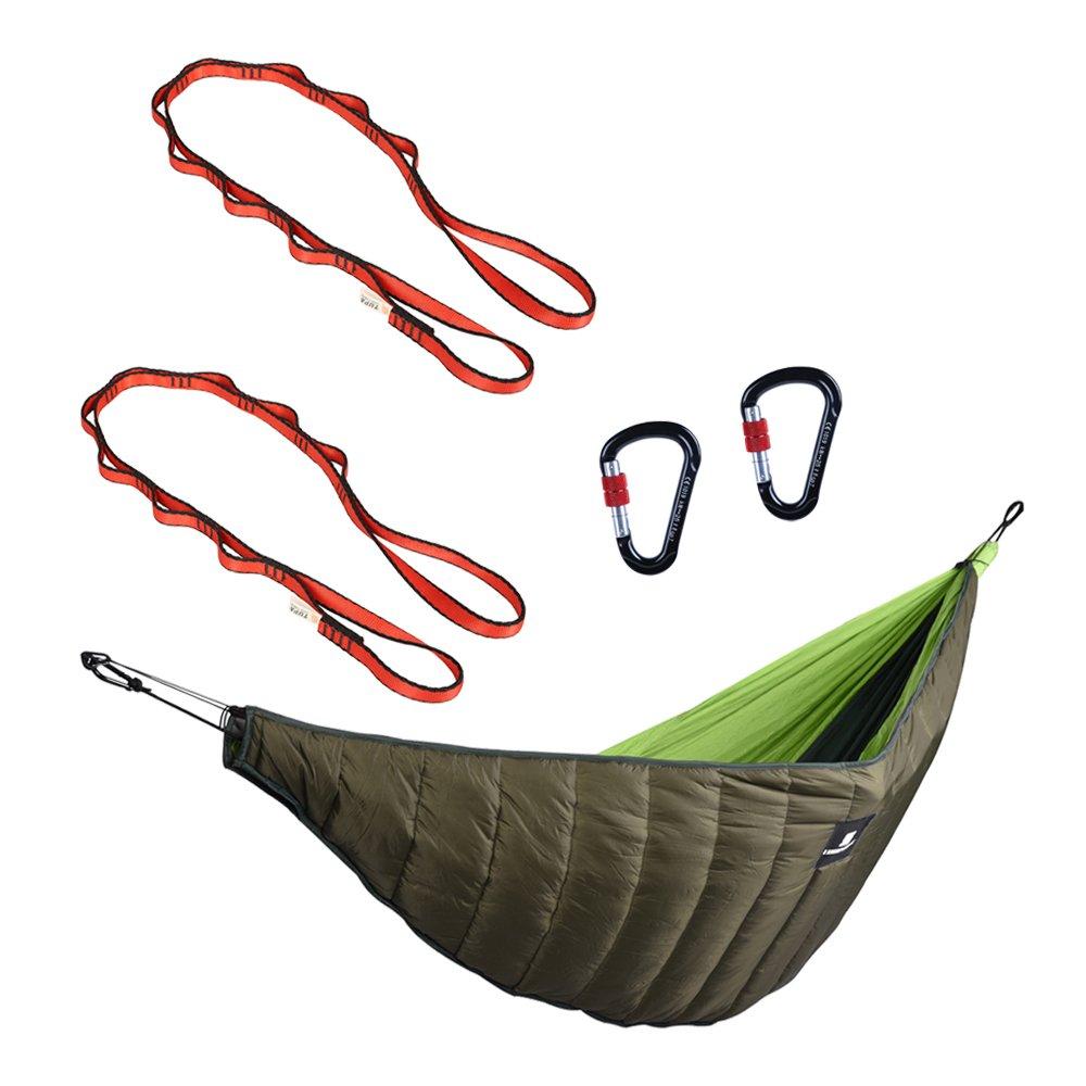 Baosity キャンプ ハンモックアンダーキルト スプリング スナップフック ハンモックストラップ 全2選択 B07B62KT8G ストラップ150cm ストラップ150cm