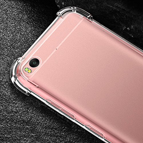 Xiaomi Mi 5s Hülle, MSVII® Air-Cushion Design Durchsichtig Weich TPU Hülle Schutzhülle Case Und Displayschutzfolie für Xiaomi Mi 5s JY70032