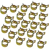 Wings Fuel Clips Line Hose Tubing Spring Clamps 8mm Steel Band Motorcycle Scooter ATV Pack of 50