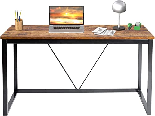 Vanergy Computer Desk Writing Desk 55 inch Industrial Wooden Style Vintage PC Laptop Table