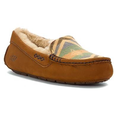 Womens Slippers UGG Ansley Pendleton Chestnut