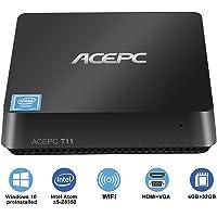Mini PC Windows 10 Intel Atom x5-Z8350 Processor 4GB Ram 32GB eMMC Support DIY SSD/HD Graphics 400/HDMI & VGA Dual Output/Dual Band Wi-Fi/Bluetooth 4.0/4K Micro Desktop Computer