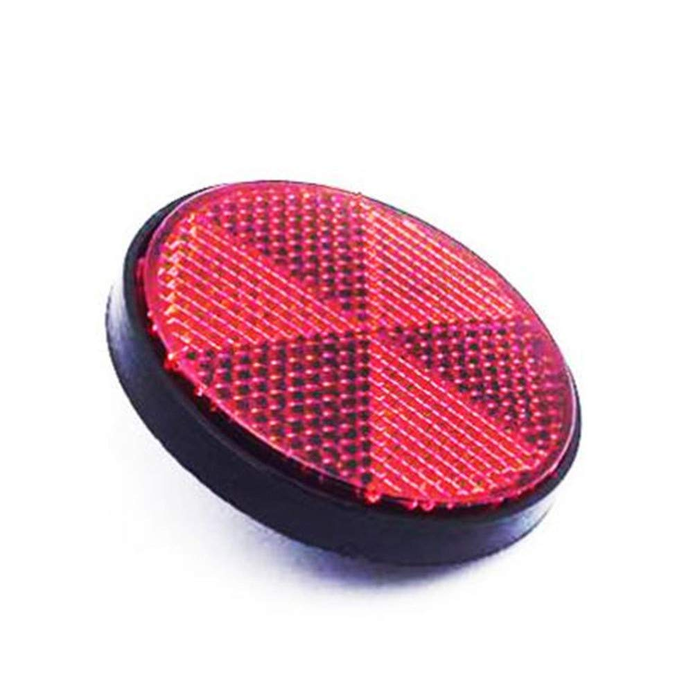 Bicycle Bike Round Reflector Safety Night Cycling Reflective - Chartsea Bike Accessories (Red)