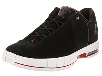 purchase cheap 92d85 128fe Jordan Nike Men s TE 2 Low Black Gym Red White Basketball Shoe 9.5 Men