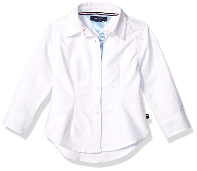 f9b745ada2959d Tommy Hilfiger Baby Girls' Core Solid Oxford Shirt, White, ...