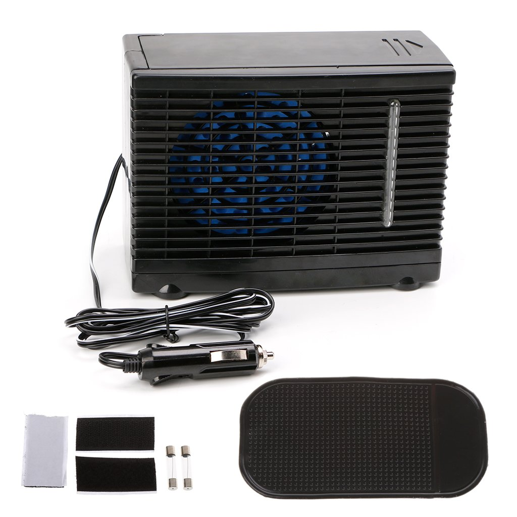 Hacloser Adjustable 12V Car Air Conditioner Cooler Cooling Fan Water Ice Evaporative