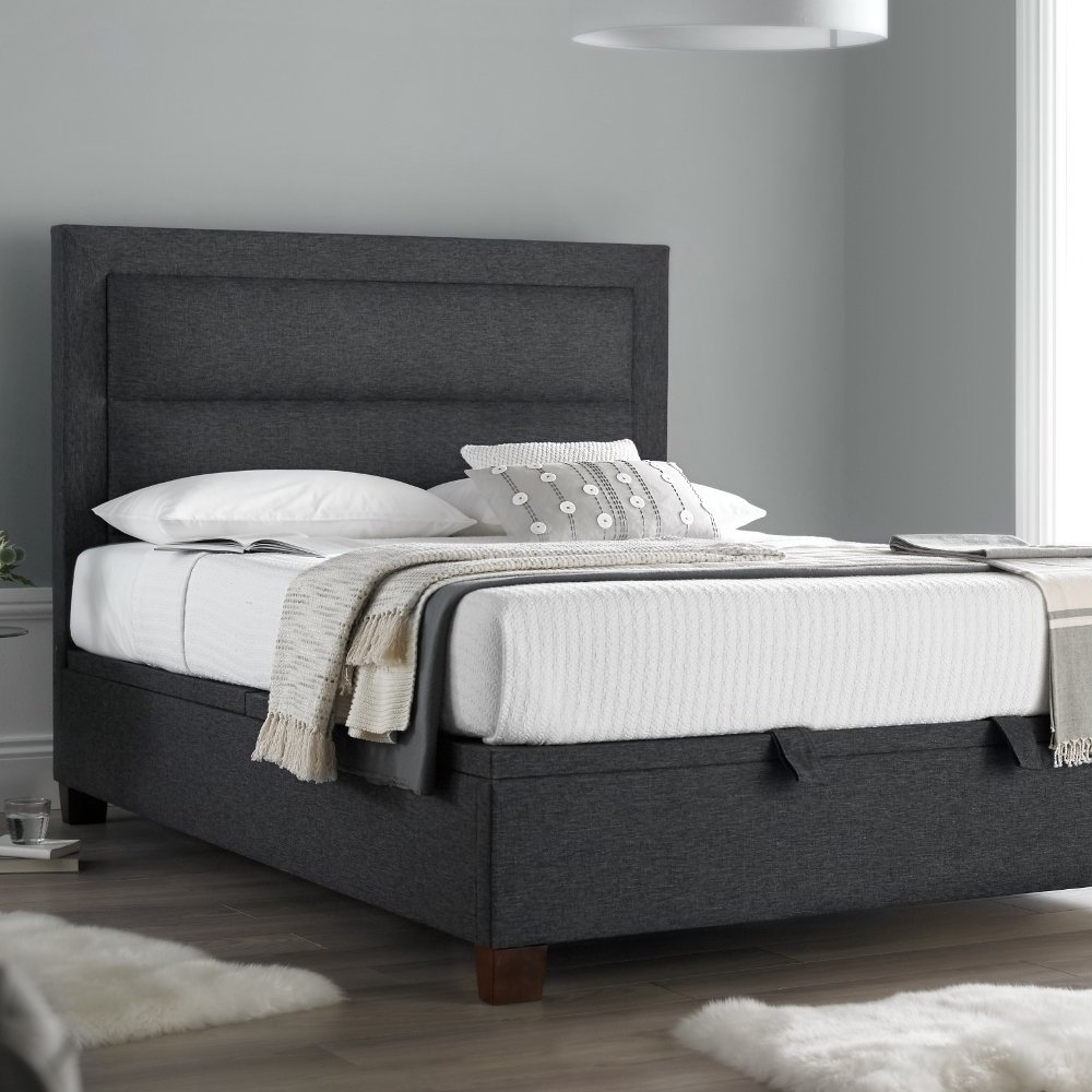 Amazon.de: Happy Beds Hollywood Ottoman Ottoman Bett Gabun Grau ...