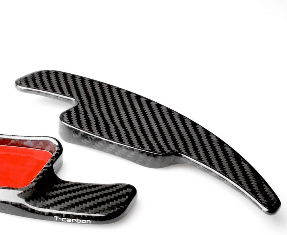 LYSHUI Carbon Fiber Steering Wheel Shift Gear Paddle,For Audi A3 S5 A5 S3 S4 Q2 2017 /& A4L Q7 TTS 2016-2017 /& TT 2015-2017