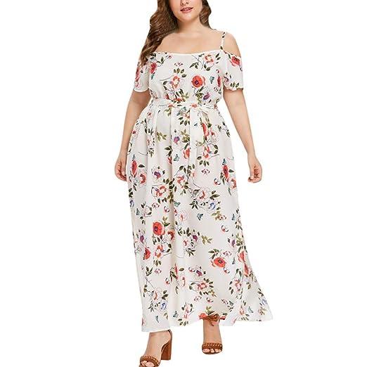 Amazon.com: Summer Plus Size Dresses,Women Boho Dot Casual ...