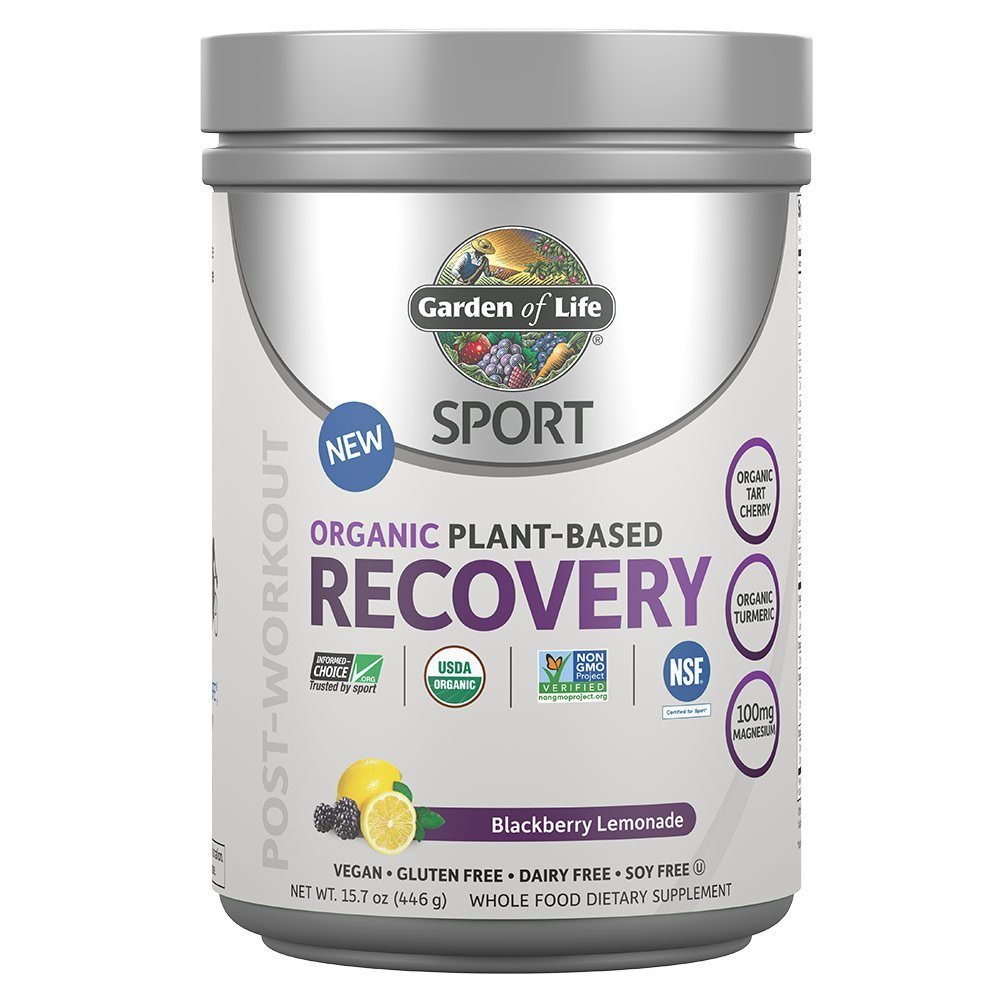 Garden of Life Sport Organic Post Workout Recovery Drink Antioxidant Supplement, Vegan, Blackberry Lemonade, 15.7oz (446g) Powder